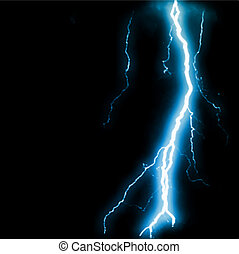 Abstract blue lightning flash background. Vector