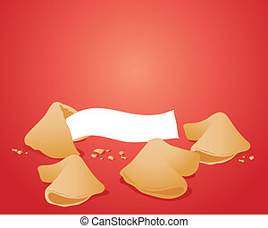 fortune cookies - an illustration of some delicious fortune...
