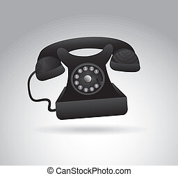 phone dialing over gray background vector illustration