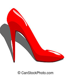 High-heel - Red high-heels shoes