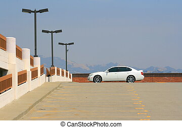 Sports Car - White Lexus GS with chrome rims and tinted...