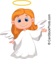 Cute angel cartoon - Vector illustration of Cute angel...