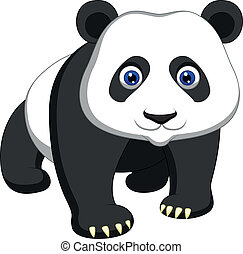 Cute panda cartoon - Vector illustration of Cute panda...