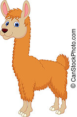 Ilama cartoon - Vector illustration of Ilama cartoon