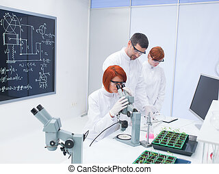 students chemistry lab analysis - general-view of a...