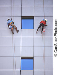 Windows cleaners - Shot at chennai while walking