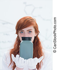 student laboratory experiment - general-view of a student in...
