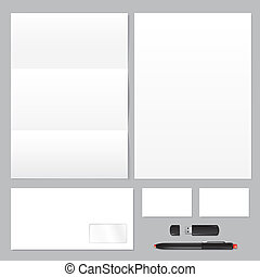 Blank business corporate identity template - Set of...