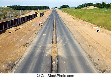 Autobahn - Newly build autobahn in Germany