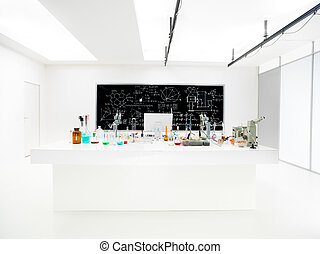 chemistry lab view - general-view of a chemistry laboratory...