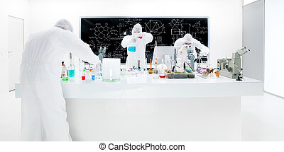 scientists laboratory experiment