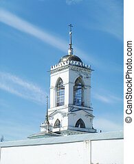 Bell tower Reverently-Bogoyavlenskogo priory in village...