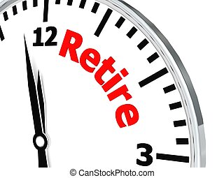 Retire clock - Hi-res original 3d-rendered computer...