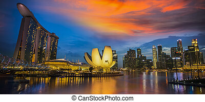 Marina Bay Sands Hotel - SINGAPORE - MARCH 10: Worlds most...