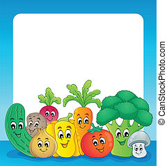 Vegetable theme frame 1 - eps10 vector illustration.