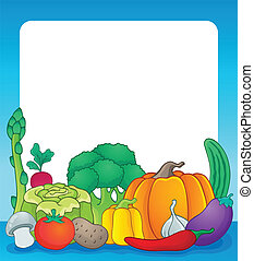 Vegetable theme frame 2