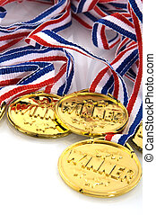 Golden medals for the winners