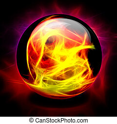 Crystal Ball Fire