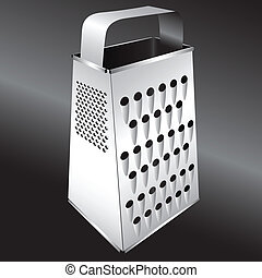 Kitchen equipment - Grater - Steel kitchen grater for...