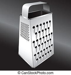 Kitchen equipment - Grater - Steel kitchen grater for...