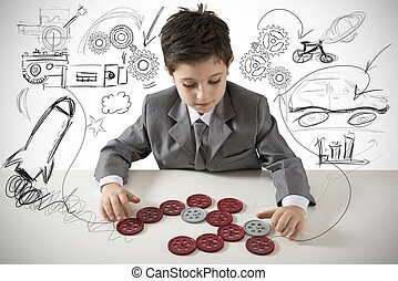 Small creative engineer - Concept of a small creative...