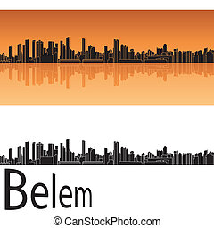 Belem skyline in orange background