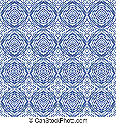 Vector Seamless Guilloche Background - Blue Vector Seamless...