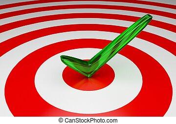 Goal Accomplished - 3D Target - Goal Accomplished
