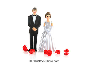 wedding day for man and woman