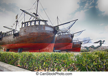 old pirate ship caravel