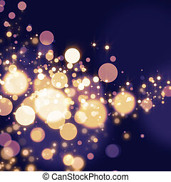 Abstract Bokeh light Background - Golden Abstract Bokeh...