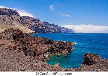 On shore of the Atlantic Ocean on the island Tenerife.