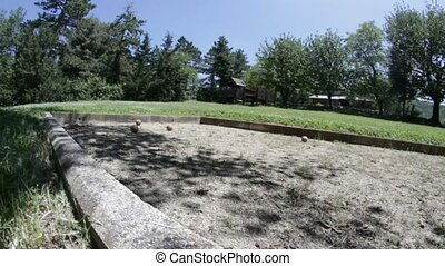 bowl game - playing bocce, outdoor continental bowling