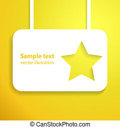 Yellow star applique background. Vector illustration for...
