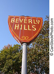 Beverly Hills - sign of Beverly Hills