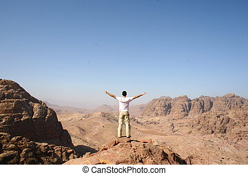 freedom in rock city Petra - enjoying the freedom in rock...