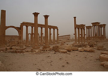 ancient ruins of Palmyra in Jordan - these are the ancient...
