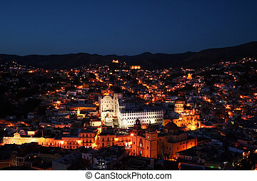 Guanajuato by night - this is the beautiful city Guanajuato...
