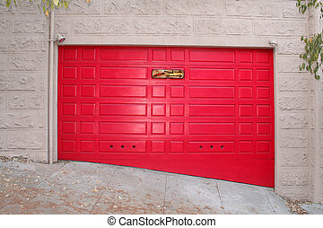 red garage - this is a red garage for a car