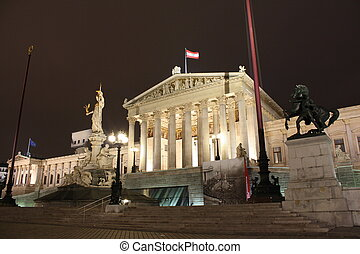 parliament of Vienna - this is the beautiful parliament of...