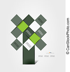 Modern geometrical abstract template