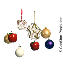 Christmas ornaments suspended in mid-air - Unusual Christmas...