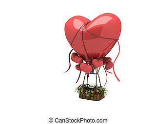 3d heart shape ballon
