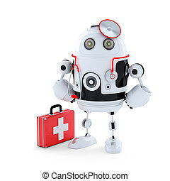 Medic Robot. Repair concept. Isolated