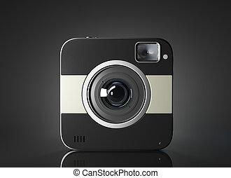 User interface camera. 3d Illsuatration