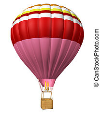 hot air balloon isolated - hot air balloon isolated on a...