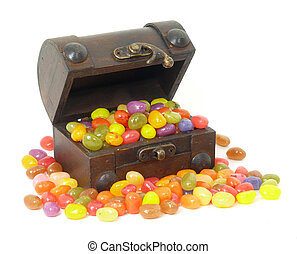 jelly beans chest - jelly beans
