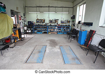 car repair garage - Image of a car repair garage
