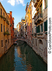 Venice Italy unusual pittoresque view of the most touristic...