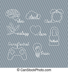 signs types - sign types over gray background vector...